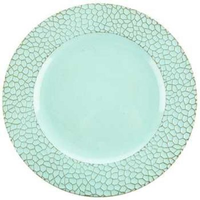 Light Blue Textured Charger Plate $1