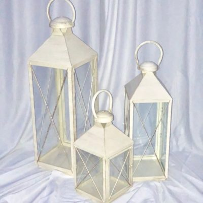 Off-white Lanterns Set (3) $55