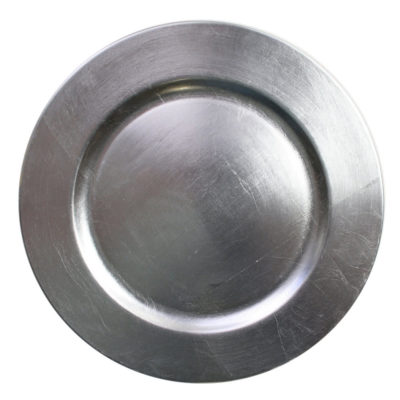 Silver Charger Plate $1.50