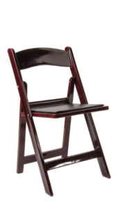 Mahogany Padded Folding Chairs - $3.00