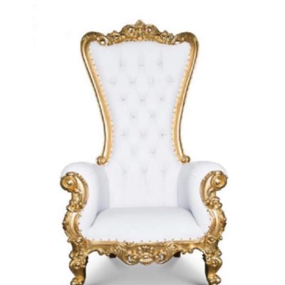 Gold Throne Chair (2 available)- $150.00