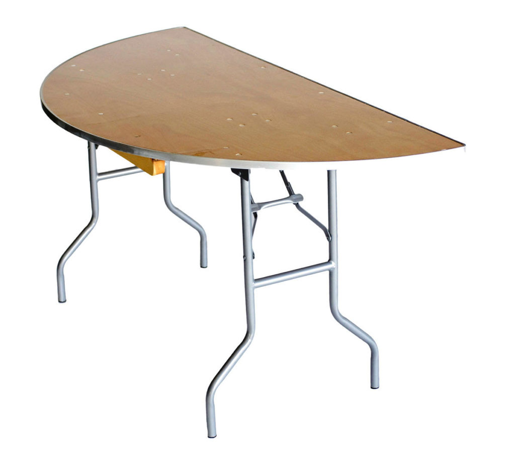 5ft Half Round Tables $7.00