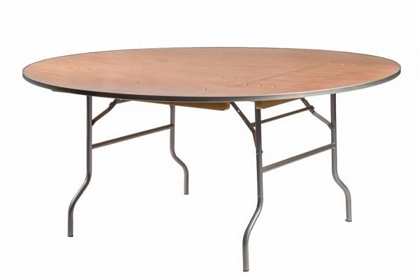 6ft Round Tables $10.00 (seats 10-12 ppl)