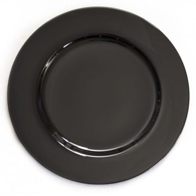 Black Charger Plate $1