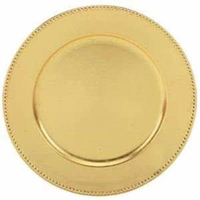 Gold Beaded Charger Plate $1