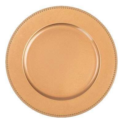Copper Beaded Charger Plate $1.50