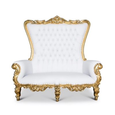 Gold Throne Sweetheart Chair - $300.00