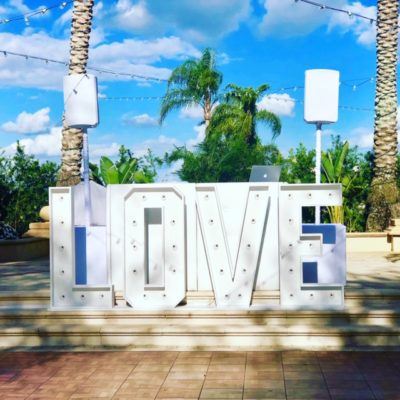4' Love Marquee Sign - $450.00