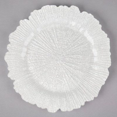 White Reef Charger Plate - $8