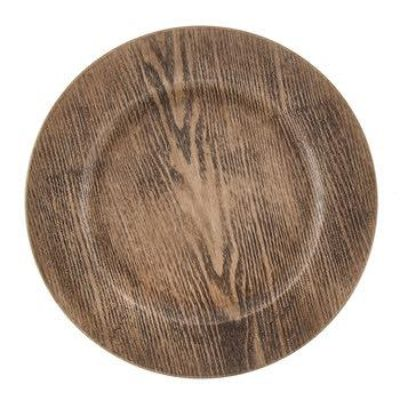 Wood Charger Plate $2