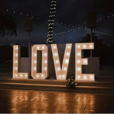 4' Love Marquee Sign $400