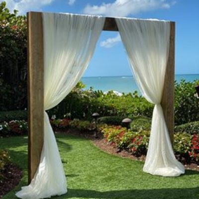 2 Post 3D Wooden Arch $300