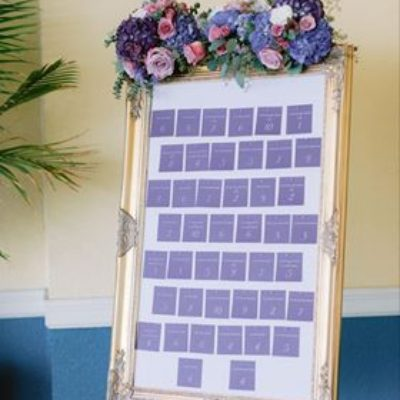 Gold Seating Chart Picture Frame $55