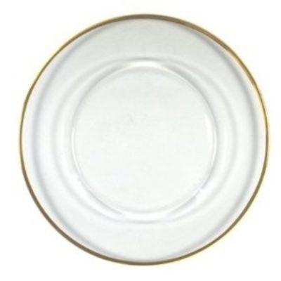 Gold Rim Glass Charger Plate $5